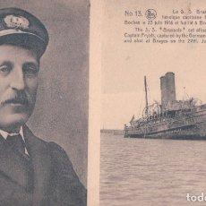 Postales: POSTAL CAPITAINE FRYATT GUERRA 1916 - NELS - BELGICA. Lote 183003876
