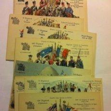 Postales: EJÉRCITO FRANCÉS - ESCENAS DESDE 1724 A 1914 - LOTE DE 20 - PERFECTAS. Lote 183179565