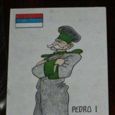 Postales: POSTAL ILUSTRADA CON CARICATURA DE PEDRO I DE SERBIA, SE CONVIRTIÓ EN EL PRIMER REY DE LOS SERBIOS, . Lote 183368870