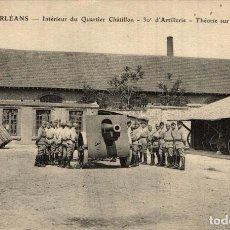 Postais: ORLEANS - INTERIEUR DU QUARTIER CHATILLON - 30E ARTILLERIE - LA THEORIE SUR LE 105 MILITAR 2 SCAN. Lote 183733448