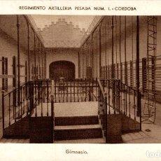 Postales: REGIMIENTO ARTILLERIA PESADA CORDOBA MILITAIRE GIMNASIO. Lote 183734641