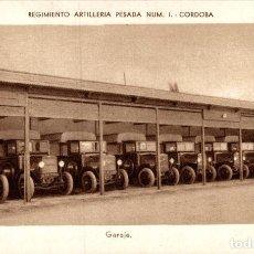 Postales: REGIMIENTO ARTILLERIA PESADA CORDOBA MILITAIRE GARAJE. Lote 183734718
