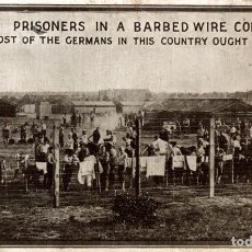 Postales: VERY RARE GERMAN PRISONERS IN A BARBED WIRE COMPOUND WHERE MOST OF THE GERMANS IN THIS COUNTRY OU. Lote 183737231