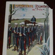 Postales: ANTIGUA POSTAL INGENIEROS REGIMIENTO DE A PIE, Nº 214, ED. CALLEJA, NO CIRCULADA.. Lote 183770103