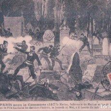 Postales: POSTAL PARIS - SOUS LA COMMUNE 1871- MARINS INFANTERIE DE MARINE ET 74 DE LIGNE FUSILLANT. Lote 183839937