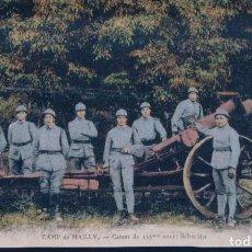 Postales: POSTAL FRANCIA - CAMP DE MAILLY - CANON DE 155 MM COURT SCHNEIDER - NIEPS. Lote 183892171