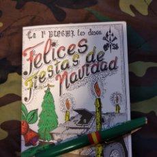 Postales: FELICITACIÓN FIESTA DE NAVIDAD 1ª BANDERA DE LA LEGIÓN TERCIO GRAN CAPITÁN. Lote 184124953