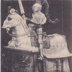 Postales: ARNÉS DE JUSTA ECUESTRE DE CARLOS V (1517) - REAL ARMERÍA MADRID - FOTOTIPIA HAUSER Y MENET - S/C. Lote 187384211
