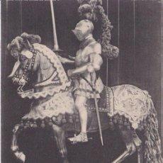 Postales: ARNÉS ECUESTRE DE CARLOS V (1540) - REAL ARMERÍA MADRID - FOTOTIPIA HAUSER Y MENET - S/C. Lote 187384300