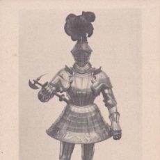 Postales: ARNÉS DE JUSTAR A PIE DE CARLOS V (1526) - REAL ARMERÍA MADRID - FOTOTIPIA HAUSER Y MENET - S/C. Lote 187384667