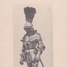 Postales: ARNÉS DE GUERRA DE CARLOS V (1516) - REAL ARMERÍA MADRID - FOTOTIPIA HAUSER Y MENET - S/C. Lote 187384701