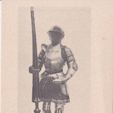 Postales: ARNÉS DE JUSTA REAL DE CARLOS V (1520) - REAL ARMERÍA MADRID - FOTOTIPIA HAUSER Y MENET - S/C. Lote 187384750