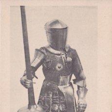 Postales: ARNÉS DE JUSTA REAL DE FELIPE EL HERMOSO 1498 - REAL ARMERÍA MADRID - FOTOTIPIA HAUSER Y MENET - S/C. Lote 187384970