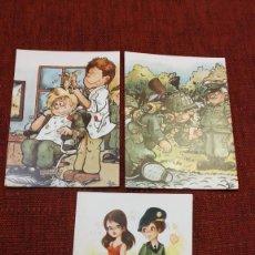 Postales: LOTE DE 3 POSTALES DE DIBUJOS DE LA MILI-EDICIONES PERLA. Lote 187535460