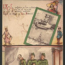 Postales: POSTAL CARICATURA MILITARES *LA JURA*, ILUSTRA PEPIN - AÑO 1956. Lote 190867032