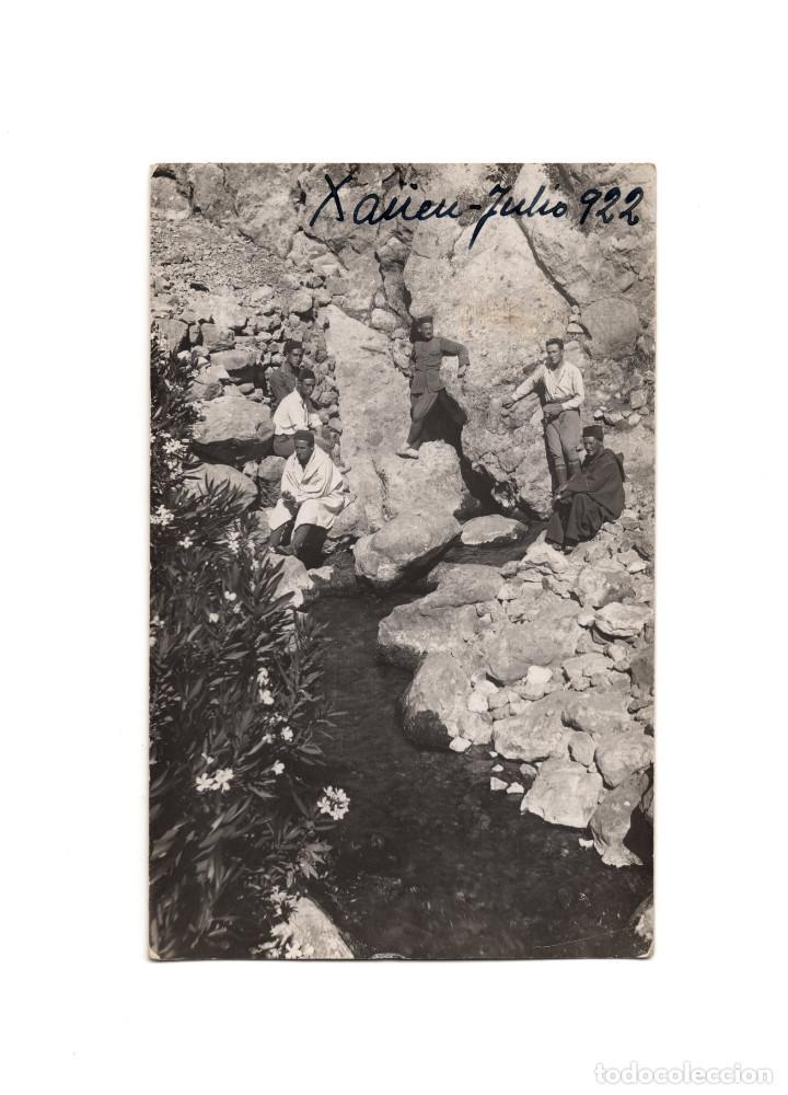 CAMPAÑA DEL RIF - XAÜEN 1922. NACIMIENTO DEL MANANTIAL. POSTAL FOTOGRÁFICA. (Postales - Postales Temáticas - Militares)