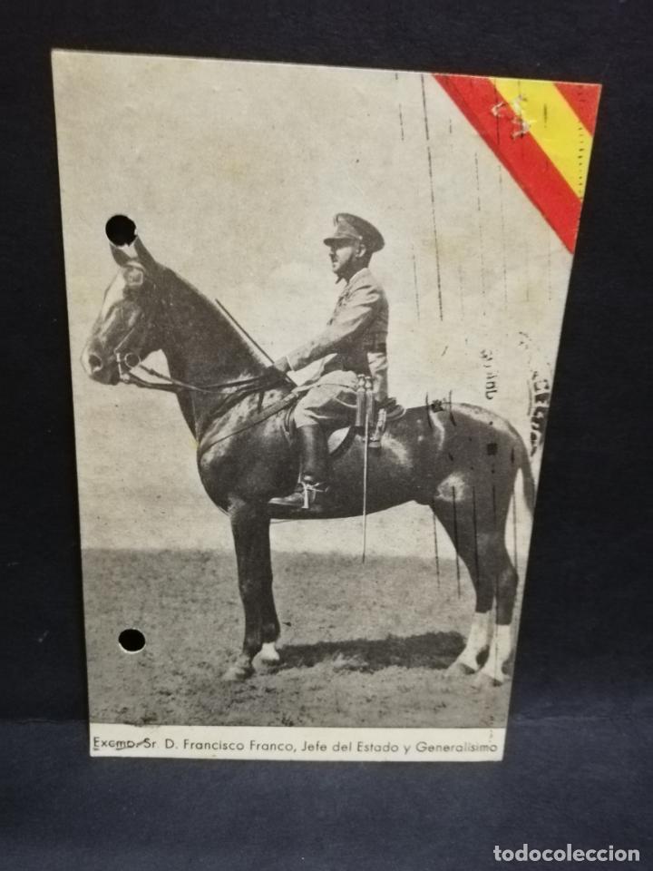 TARJETA POSTAL. EXCMO. SR. D. FRANCISCO FRANCO, JEFE DEL ESTADO Y GENERALISIMO. EDICIONES ARRIBAS. (Postales - Postales Temáticas - Militares)