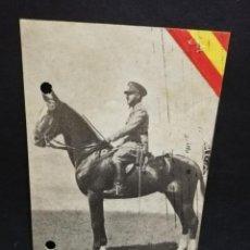 Postales: TARJETA POSTAL. EXCMO. SR. D. FRANCISCO FRANCO, JEFE DEL ESTADO Y GENERALISIMO. EDICIONES ARRIBAS.. Lote 191446377