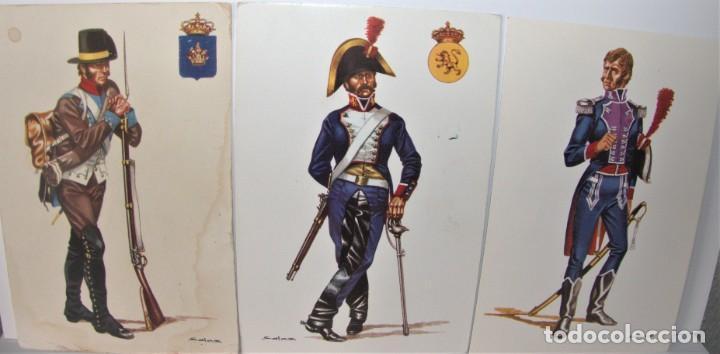 6 POSTALES MILITARES DE DELFÍN SALAS (Postales - Postales Temáticas - Militares)