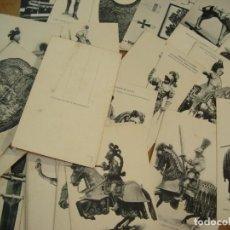 Postales: 55 TARJETAS POSTALES REAL ARMERIA / HAUSER Y MENET - MADRID ARMADURAS EDAD MEDIA. Lote 192927847