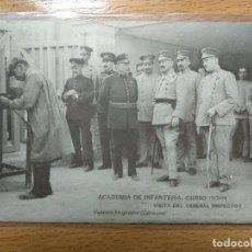 Postais: ACADEMIA INFANTERÍA. CURSO 1913-14 - VISITA DEL GENERAL INSPECTOR. . Lote 193969450