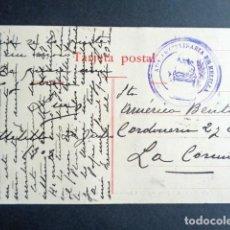 Postales: BRIGADA DISCIPLINARIA DE MELILLA. SELLO SOBRE TARJETA POSTAL CIRCULADA. . Lote 193996792