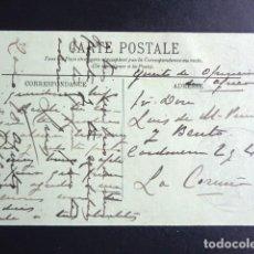 Postales: BATALLÓN DE CAZADORES DE FIGUERAS Nº 6. SELLO SOBRE TARJETA POSTAL CIRCULADA. . Lote 193996885