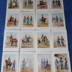 Postales: LOTE DE 16 POSTALES - MUSEO DEL EJÉRCITO (1973). Lote 194085380