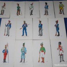 Postales: LOTE DE 13 POSTALES - MUSEO DEL EJÉRCITO (1969). Lote 194085395