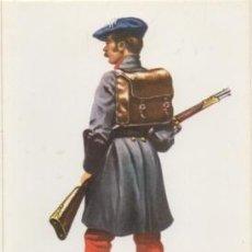 Postales: POSTAL UNIFORMES MILITARES SIGLO XLX. INFANERIA GUIPUZCOANA. GUERRA CARLISTA 1836 P-MI-306. Lote 194397506