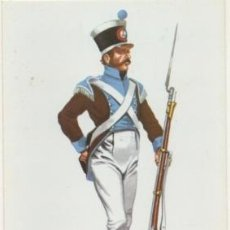 Postales: POSTAL UNIFORMES MILITARES SIGLO XLX. FUSILERO DEL RGTO. DE MEDINASIDONIA 1813 P-MI-307. Lote 194397553