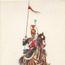 Postales: POSTAL UNIFORMES MILITARES. LANZERO DE LA GUARDIA REAL 1824. SERIE 1 Nº 8 P-MI-381. Lote 194677681