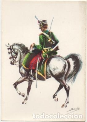 POSTAL UNIFORMES MILITARES. CABALLERIA LIGERA. SOLDADO RGTO. ALBUERA 1835. SERIE 1 Nº 11 P-MI-382 (Postales - Postales Temáticas - Militares)