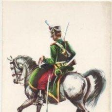 Postales: POSTAL UNIFORMES MILITARES. CABALLERIA LIGERA. SOLDADO RGTO. ALBUERA 1835. SERIE 1 Nº 11 P-MI-382. Lote 194677747