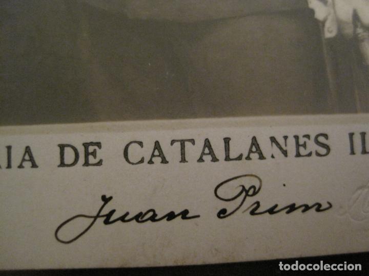 Postales: JUAN PRIM-GALERIA CATALANES ILUSTRES-FOTO A.ESPLUGAS-POSTAL FOTOGRAFICA ANTIGUA-VER FOTOS-(67.922) - Foto 3 - 194875101