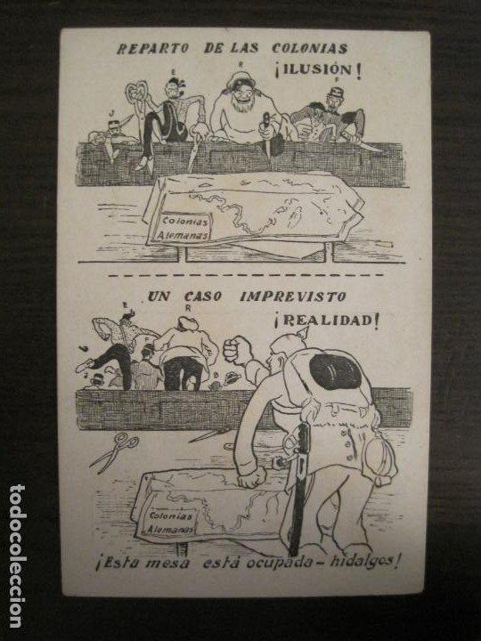 COLONIAS ALEMANIAS-REPARTO DE LAS COLONIAS-POSTAL ANTIGUA-REVERSO SIN DIVIDIR-(67.925) (Postales - Postales Temáticas - Militares)