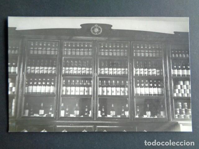 POSTAL FOTOGRÁFICA. HOSPITAL MILITAR ESPAÑOL DE TETÚAN. INTENDENCIA. VITRINA DE VINO Y LICORES. 1921 (Postales - Postales Temáticas - Militares)