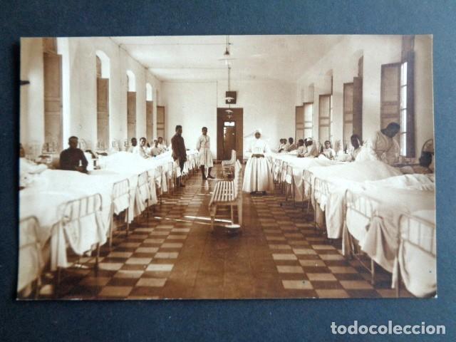POSTAL FOTOGRÁFICA. HOSPITAL MILITAR ESPAÑOL DE TETÚAN. SALA DE ENFERMERÍA Y HERIDOS. 1921. (Postales - Postales Temáticas - Militares)