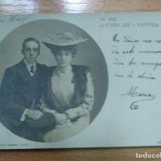 Postales: SS. MM. ALFONSO XIII Y VICTORIA EUGENIA. FOTOGRÁFICA. HUGUES AND MULLINS.. Lote 195299166