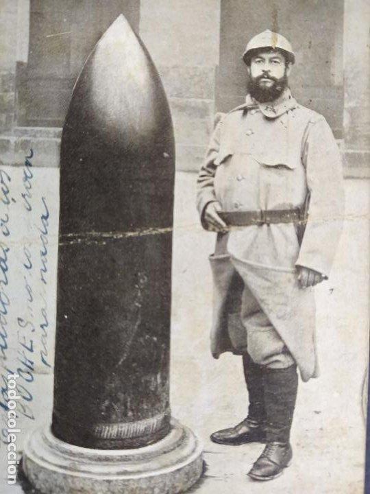 Postales: MILITAR-OBUS DE ALREDEDORES DE VERDUN-POSTAL ANTIGUA-(68.179) - Foto 2 - 195311891