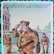 Postales: CHISTE - CARICATURA DE UN SOLDADO BELGA -1939 - CIRCULADA - PJRB. Lote 195359771