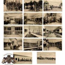 Postales: CUARTEL DE CABALLERÍA. RARA SERIE COMPLETA. . Lote 196359266