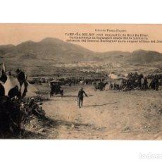 Postales: CAMPAÑA DEL RIF 1921.- OCUAPACIÓN DE BENI BU IFRUR. CAMPAMENTO DE SEGANGAN DESDE DONDE PARTIO. Lote 196361485