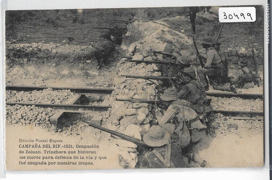 GUERRA DE MARRUECOS - CAMPAÑA DEL RIF 1921 - OCUPACIÓN DE ZELUAN - P30499 (Postales - Postales Temáticas - Militares)