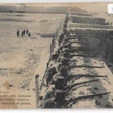 Postales: GUERRA DE MARRUECOS - CAMPAÑA DEL RIF 1921 - SOLDADOS TIROTEANDO DESDE LA MURALLA DE ZELUÁN - P30497. Lote 198228182