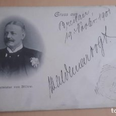 Postales: POSTAL ANTIGUA STAATSMINISTER VON BULOW 1901. Lote 198786843
