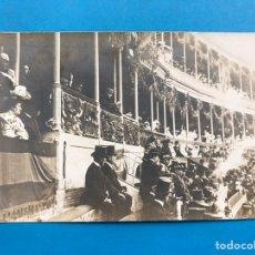 Postales: EL REY ALFONSO XIII Y CONDE DE ROMANONES EN PLAZA DE TOROS - POSTAL FOTOGRAFICA. Lote 198814940