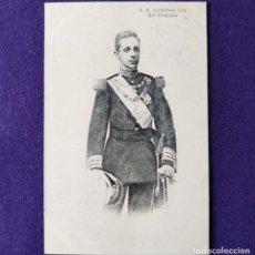 Postales: POSTAL DE ALFONSO XIII REY DE ESPAÑA. MONARQUIA. EDICION FRANCESA 1906. SIN CIRCULAR. . Lote 200132245
