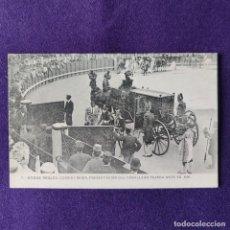 Postales: POSTAL DE BODAS REALES. Nº7 CORRIDA REGIA, PRESENTACION DEL CABALLERO TEJADA ANTE SS.MM. AÑO 1906.. Lote 200133276