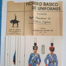 Postales: ESPAÑA - REGIMIENTO CAZADORES DE VICTORIA EUGENIA - SERIE 8 FICHAS. Lote 201620408